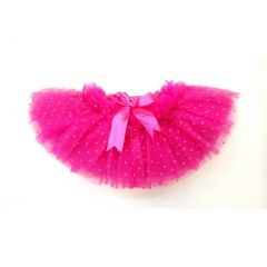 Hot Pink Polka Dot 10 Layer Tutu Skirt Girls S-XL