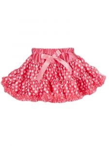Wenchoice Little Girls Hot Pink Trim Minnie Satin Polka Dot Tutu Skirt 24M-6