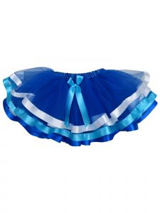 Wenchoice Girls Royal Blue Light Blue White Ribbon Trim Tutu Skirt 9M-8