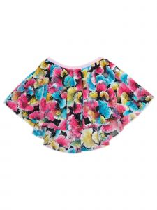 Wenchoice Little Girls Blue Yellow Hot Pink Lace Floral Hi Low Skirt 12M-6