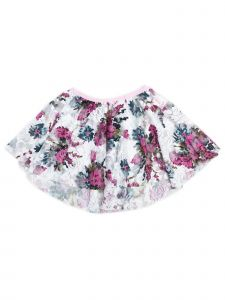 Wenchoice Little Girls Hot Pink Lace Floral Print Hi Low Skirt 12M-6