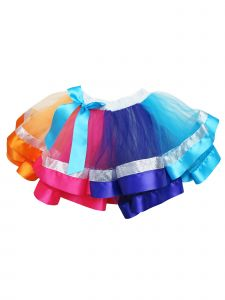 Wenchoice Girls Multi Color JoJo Siwa Silver Trim Tutu Skirt 24M-6