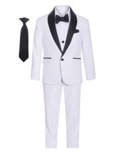 Boys Multi Color Satin Shawl Collar 7 Pcs Special Occasion Tuxedo 1-16