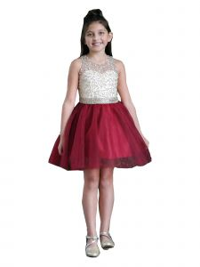 Calla Collection Girls Multi Color Beaded Special Occasion Dress 6-18