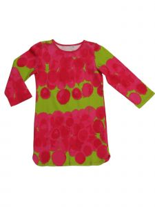 Little Girls Lime Hot Pink Bubble Print Raspberries Sweet Tea Dress 2T-6X