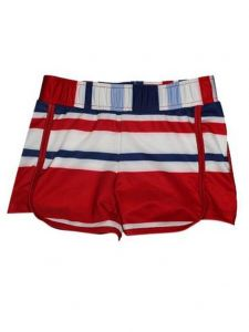 Big Girls Multi Color Striped Sails Riley Lined Sport Swim Shorts 7-16