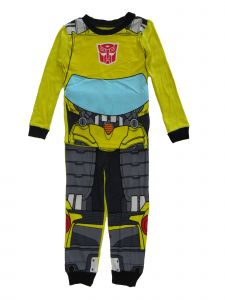 Transformers Little Boys 2pc Yellow Black Long Sleeve Pajamas 4-6