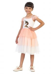 Kids Dream Big Girls Coral Flip Sequin Flamingo Corn Birthday Tutu Dress 8-12