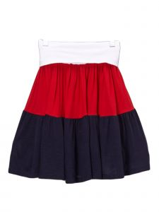 Lori Jane Big Girls Navy Red Tired Patriotic Skirt 6-16