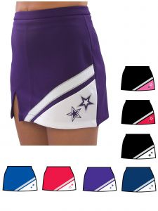 Pizzazz Girls Multi Color SuperNova Uniform Skirt Youth 2-16