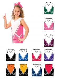 Pizzazz Girls Multi Color Intensity Uniform Shell Top Youth 2-16