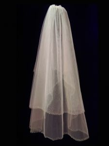 Big Girls Women White Double Layer Communion Bridal Wedding Veil 35""