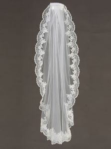 Big Girls Women Ivory Single Layer Lace Communion Bridal Wedding Veil 36 ""