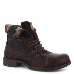 Vandana Adult Mocha Lace-Up Construction Leather Trendy Ankle Boots 6-10 Womens