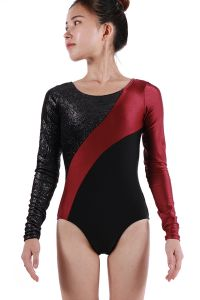 Multi Color Star Long Sleeve Gymnastics Leotard Girls 4-Womens XS