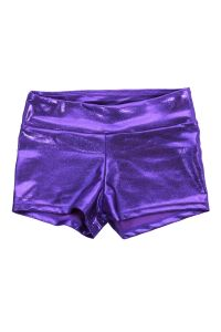 Veva By Very Vary Multi Color Foil Twinkle Gymnastics Shorts Girls 4-Womens L