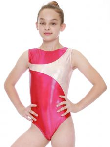 VEVA by Very Vary Womens Rouge Silver Vega Mystique Gymnastics Leotard XS-L