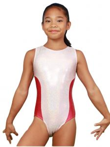 VEVA by Very Vary Big Girls Pearl Pink Fay Mystique Gymnastics Leotard 8-12