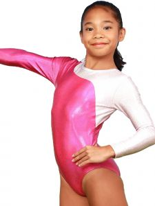 VEVA by Very Vary Big Girls Aurora Mercury Mystique Gymnastics Leotard 8-12