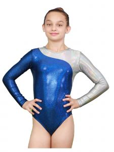 VEVA by Very Vary Women Twilight Blue Mercury Mystique Gymnastics Leotard XS-L