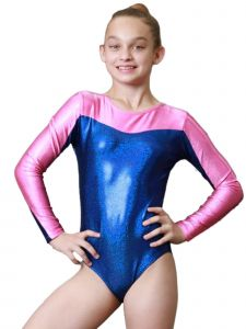 Womens Twilight Blue Pink Venus Mystique Gymnastics Competition Leotard XS-L