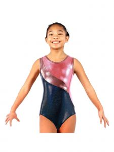 VEVA by Very Vary Big Girls Coral Anabelle Mystique Gymnastics Unitard 4-12