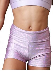 VEVA by Very Vary Womens Lilac Kosmo Mystique Gymnastics Shorts XS-L