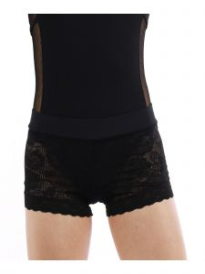 Veva By Very Vary Women Black Lala Lace Shorts M