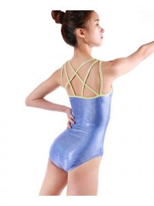 Veva By Very Vary Women Blue Atlanta Gymnastics Leotard XS