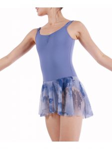Veva By Very Vary Big Girls Light Blue Bird Dance Tank Leotard 8-12