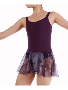 Veva By Very Vary Big Girls Purple Bird Dance Tank Leotard 8-12