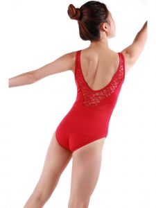 Veva By Very Vary Big Girls Red Rubina Dance Leotard 8-12
