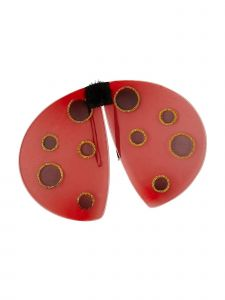 Wenchoice Girls Red Gold Dot Glitter Play Role Accessory Lady Bug Wings