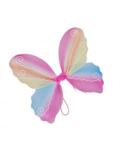 Wenchoice Girls Multi Color Rainbow Butterfly Play Role Stylish Wings Accessory
