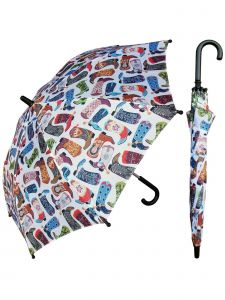 "Rainstoppers Unisex Kids Multi Cowboy Boot Print 32"" Arc Manual Open Umbrella"
