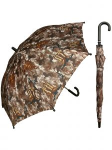 "Rainstoppers Unisex Kids Brown Western Boot Horse Print 32"" Manual Open Umbrella"