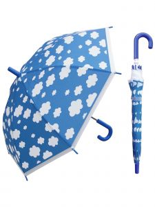 "Rainstoppers Unisex Kids Blue Cloud Print 32"" Manual Open Umbrella"