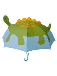 Rainstoppers Boys Green Dino Standard Pop-Up Design Manual Open Umbrella