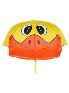 Rainstoppers Unisex Kids Yellow Duck Standard Pop-Up Design Manual Open Umbrella