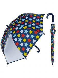 "Rainstoppers Unisex Kids Multi Star Print Clear Panel 32"" Manual Open Umbrella"