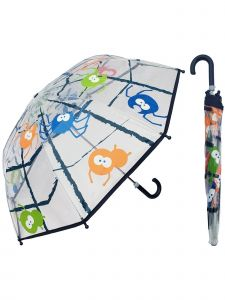 "Rainstoppers Boys Multi Spider Print 36"" Arc Manual Open Safety Tested Umbrella"