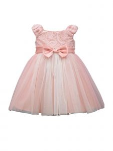 Bonnie Jean Baby Girls Blush Sequin Bonaz Bodice Flower Girl Dress 12-24M