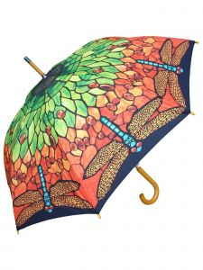 "Rainstoppers Unisex Adult Multi 43"" Tiffany Lamp Shade Print Auto/Auto Umbrella"