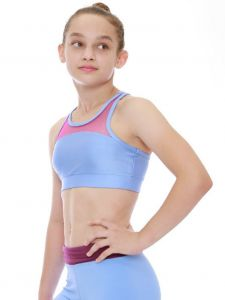 Veva by Very Vary Big Girls Sky Blue Yuzu Crop Top 8-12