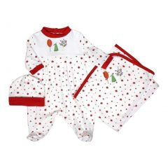"Raindrops Unisex Baby Red Nature Footie Receiving Blanket Cap Set 0-9M 28""-34"""
