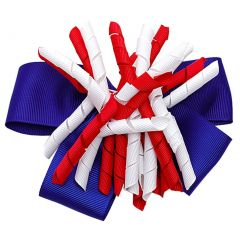 Patriotic Grosgrain Ribbon Korker Girls Hair Barrette
