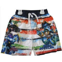 Skylanders Swap Force Little Boys White Red Character Swim Wear Shorts 4T-7