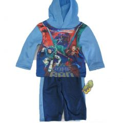 Disney Baby Boys Blue Toy Story Character Printed Hooded 2 Pc Pants Set 12-24M