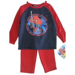 Marvels Little Boys Red Spiderman Graphic Print Top Pants Outfit 2-4T