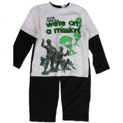 Disney Little Boys White Black Toy Story Inspired Print 2 Pc Pant Set 4-7